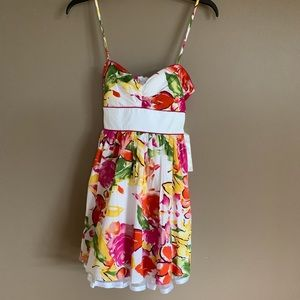City Triangles floral Spaghetti Strap Dress sz 5